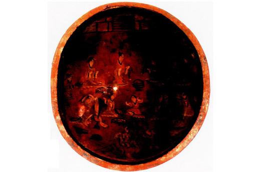 犀皮斑纹_中国古代绘画简介(七):漆画 - 文学书苑 - 查氏宗亲网