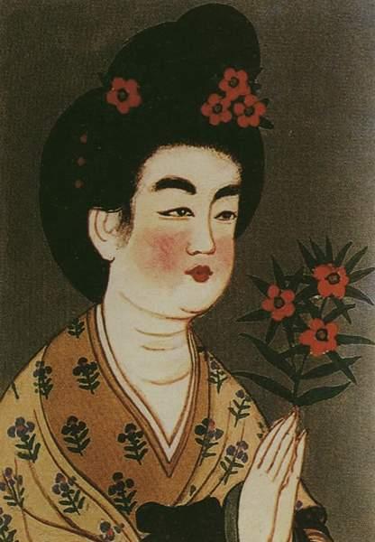 敦煌莫高窟/五代女子高髻簪花发式,敦煌莫高窟壁画