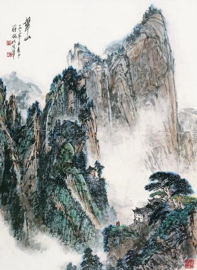 庐山小景手绘图片